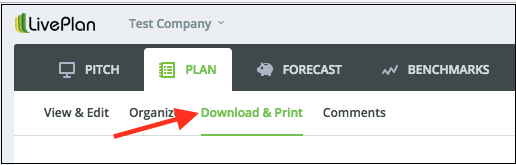 How do I download or print my forecast or financial