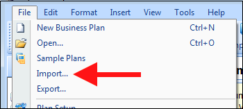 Importing A Spreadsheet Into Business Plan Pro Palo Alto