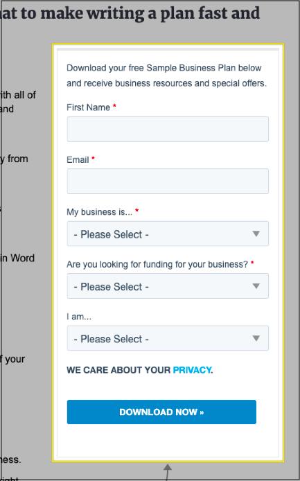 palo alto business plan free download